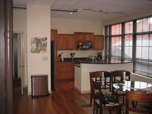202 walton apartment kitchen